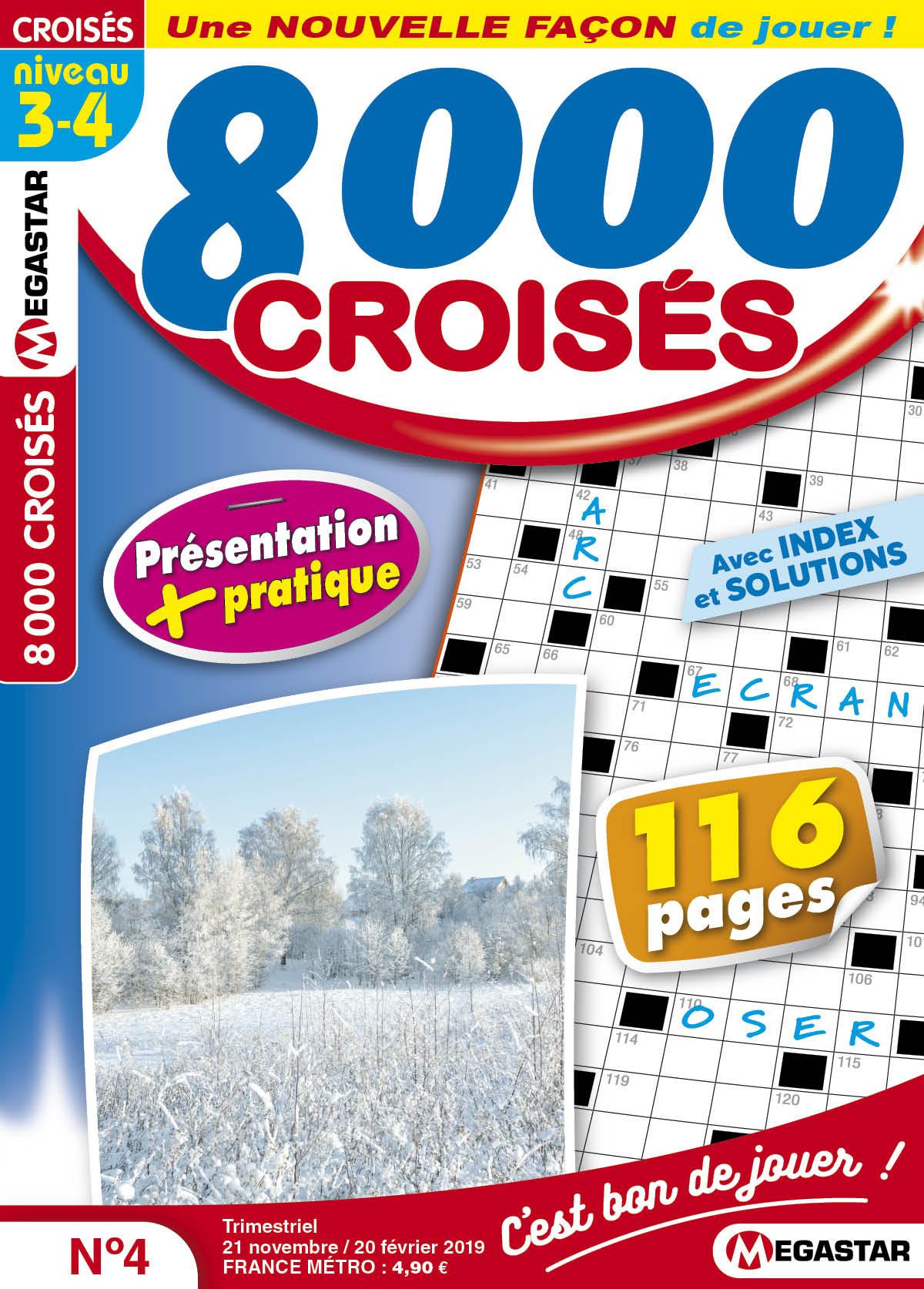 8 000 Croisés pour Mots Croisés Personnalisés