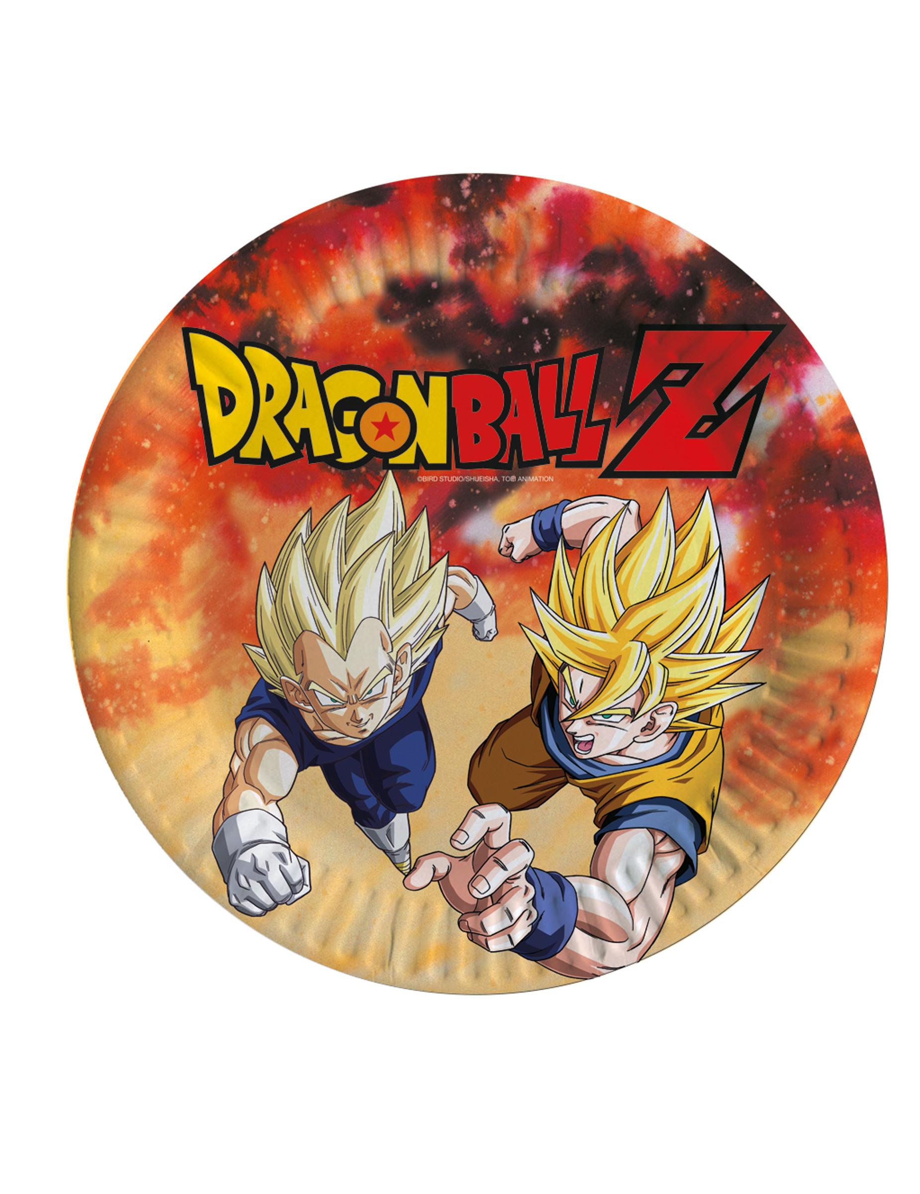 8 Assiettes En Carton Dragon Ball Z™ 23 Cm, Décoration Anniversaire Et  Fêtes À Thème Sur Vegaoo Party destiné Dessin Animé De Dragon Ball Z