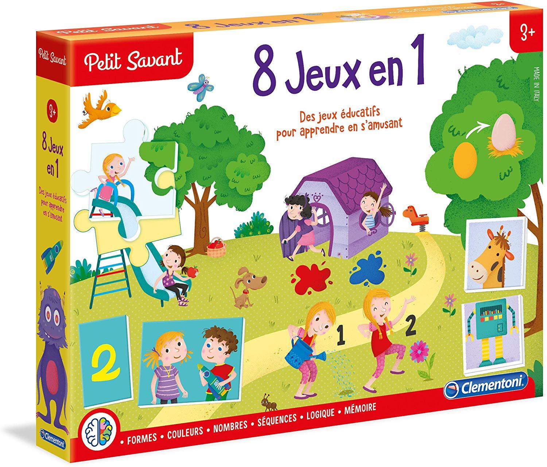 8 Jeux En 1 - Clementoni Petit Savant avec Jeu Educatif Maternelle