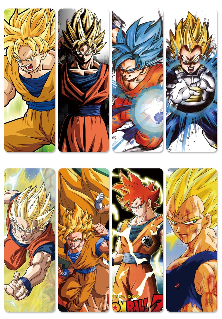 8 Pièces Beaucoup Populaire Dragon Ball Z Papier Dessin Animé Anime Signet  En Gros Fournitures Scolaires - Buy Signet,signet D'anime,signet De Bande à Dessin Animé De Dragon Ball Z