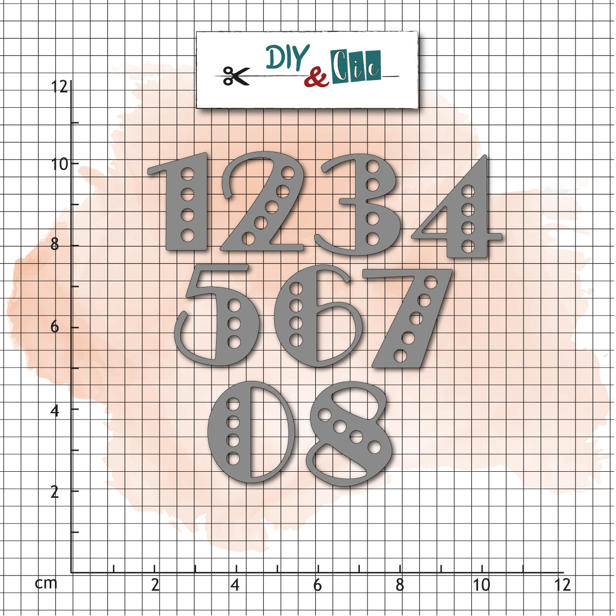 9 Dies / Matrices De Découpe 'diy & Cie - So Chic' Chiffres Music Hall -  Ellafee.re serapportantà Chiffre A Decouper