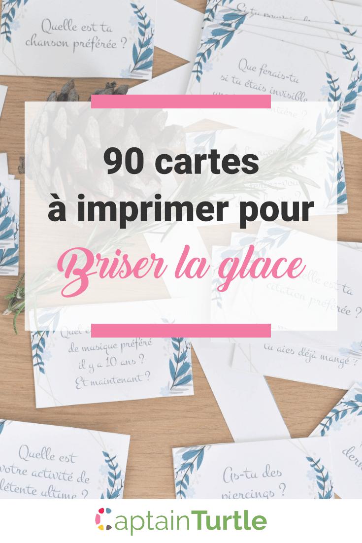 90 Questions Pour Briser La Glace | Cartes À Imprimer intérieur Petite Carte De France A Imprimer