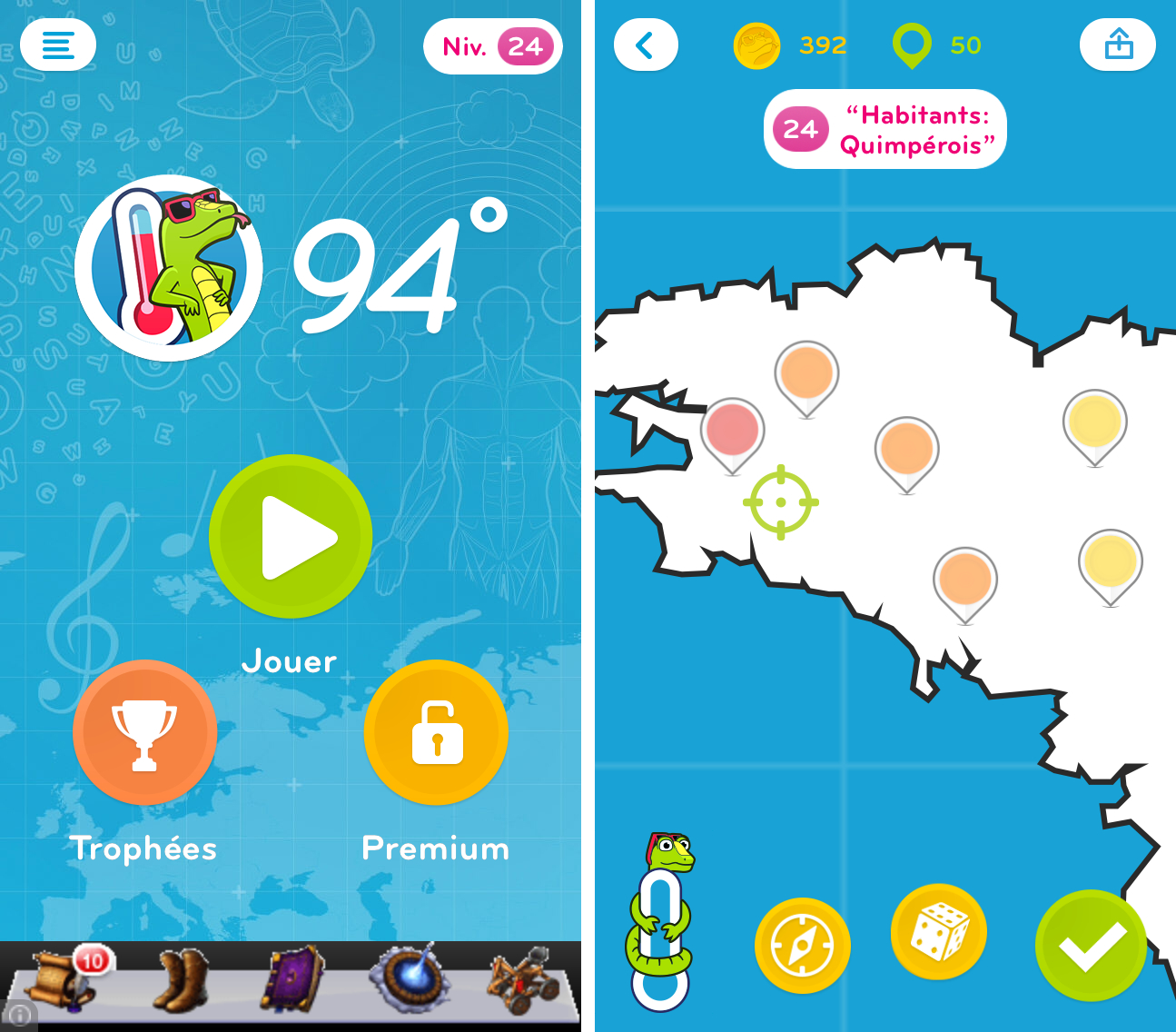 94 Degrés (94°) : Solution, Réponses Et Pins Illimités serapportantà 90 Degrés Jeux