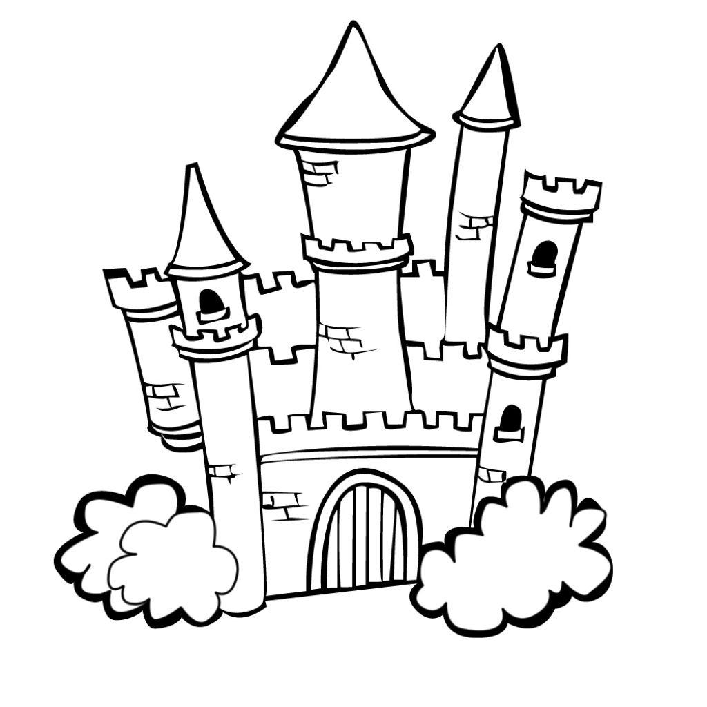 96 Dessins De Coloriage Château À Imprimer Sur Laguerche serapportantà Chateau De Princesse Dessin