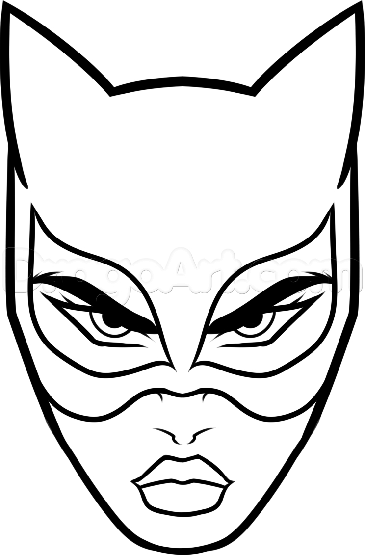 97 Dessins De Coloriage Catwoman À Imprimer encequiconcerne Masque De Catwoman A Imprimer