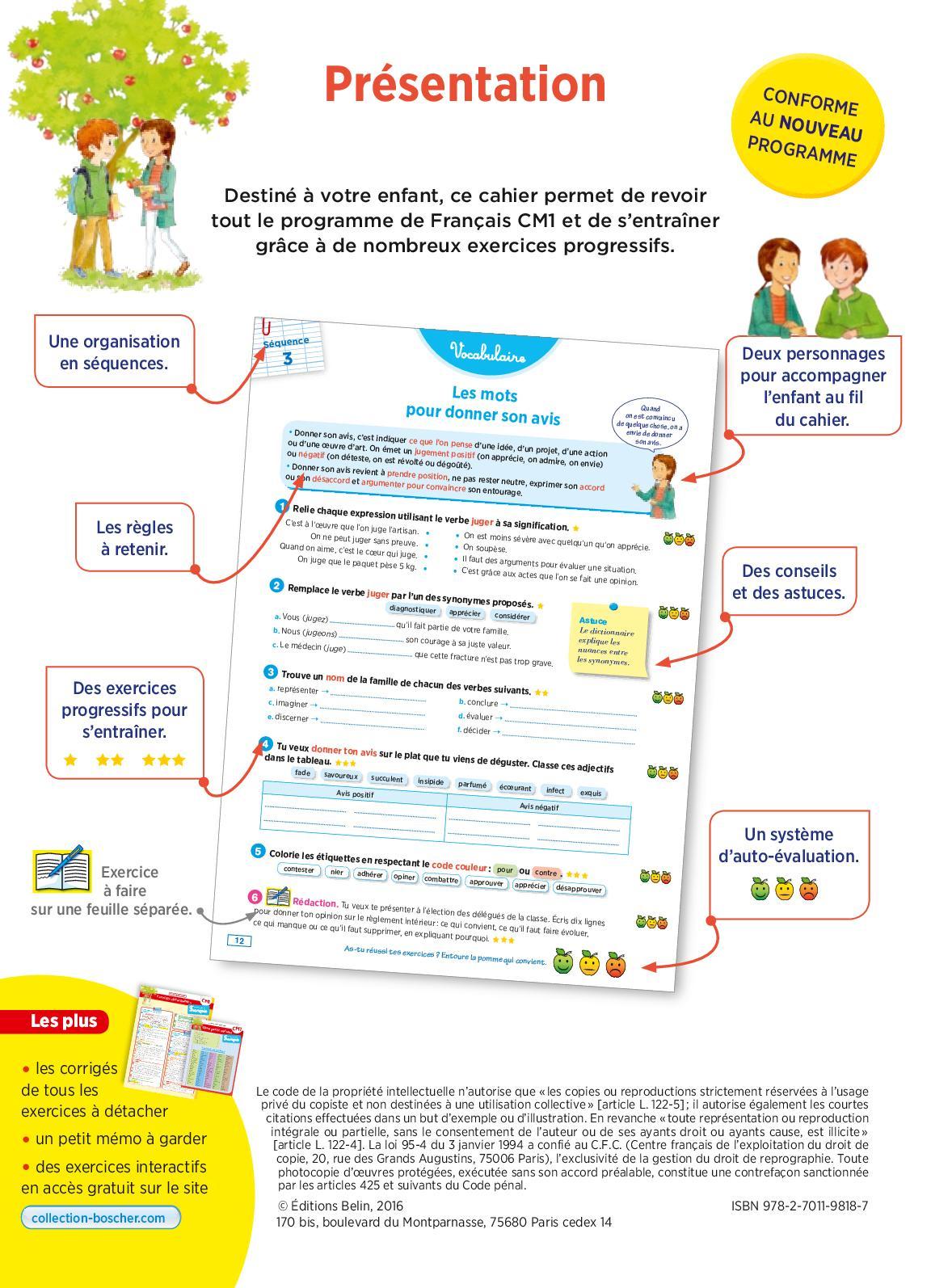 9818 Francais Cm1 1 19 Ok - Calameo Downloader concernant Exercice Cm1 Gratuit