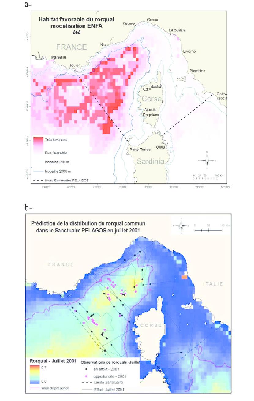 A-Carte D'habitat Favorable Du Rorqual Commun En Été avec Jeu Carte De France