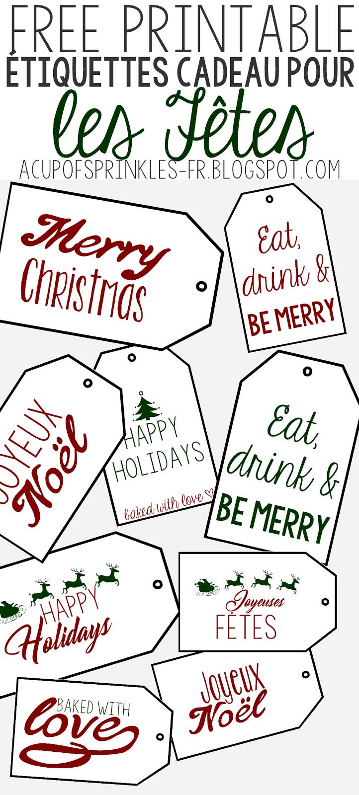 À Imprimer : Etiquettes De Noël Pour Cadeaux Gourmands | A tout Etiquette Noel À Imprimer