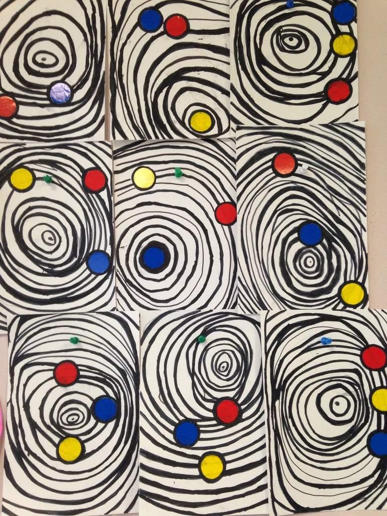 A La Manière D'alexander Calder (Graphisme : Les Ronds) Gs concernant Graphisme En Gs