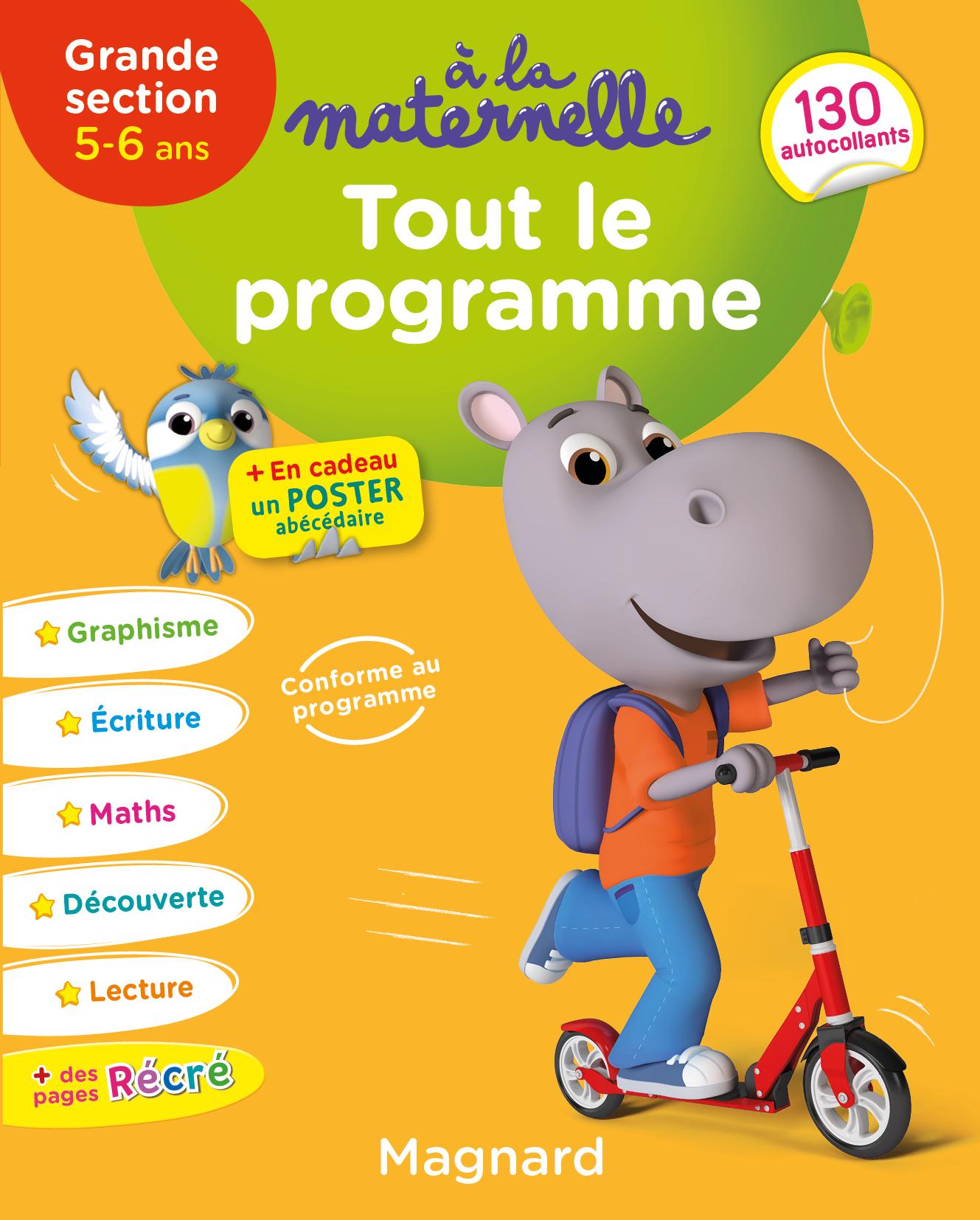 A La Maternelle, Tout Le Programme Gs | Editions Magnard tout Livre Graphisme Maternelle