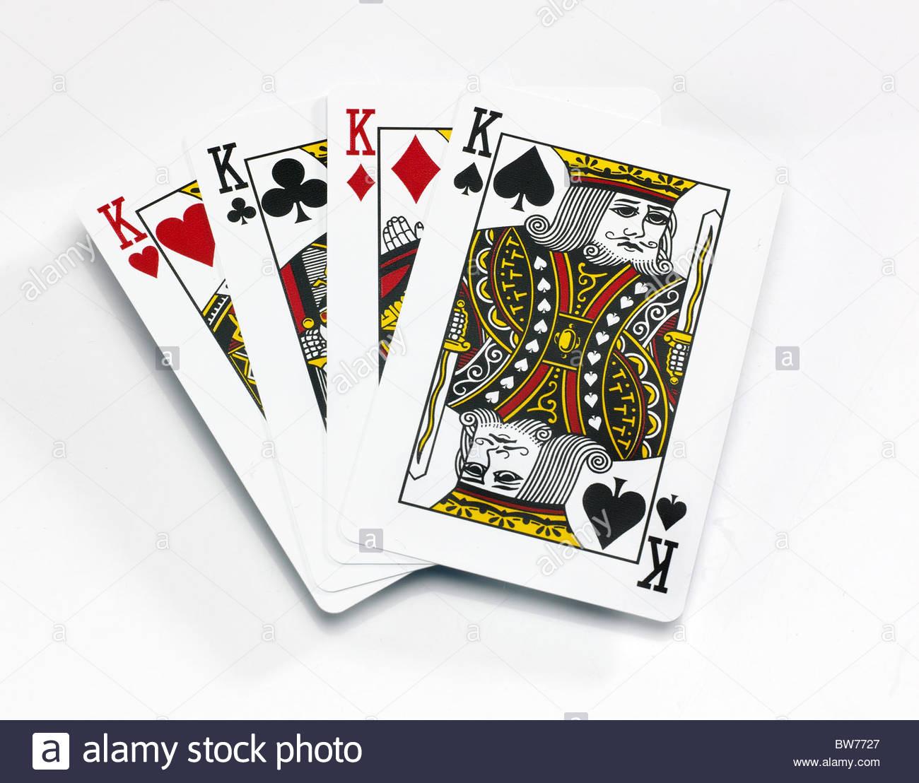 À Partir D'un Jeu De Cartes Quatre Cartes Roi Sur Un Fond serapportantà Jeu Quatre Images