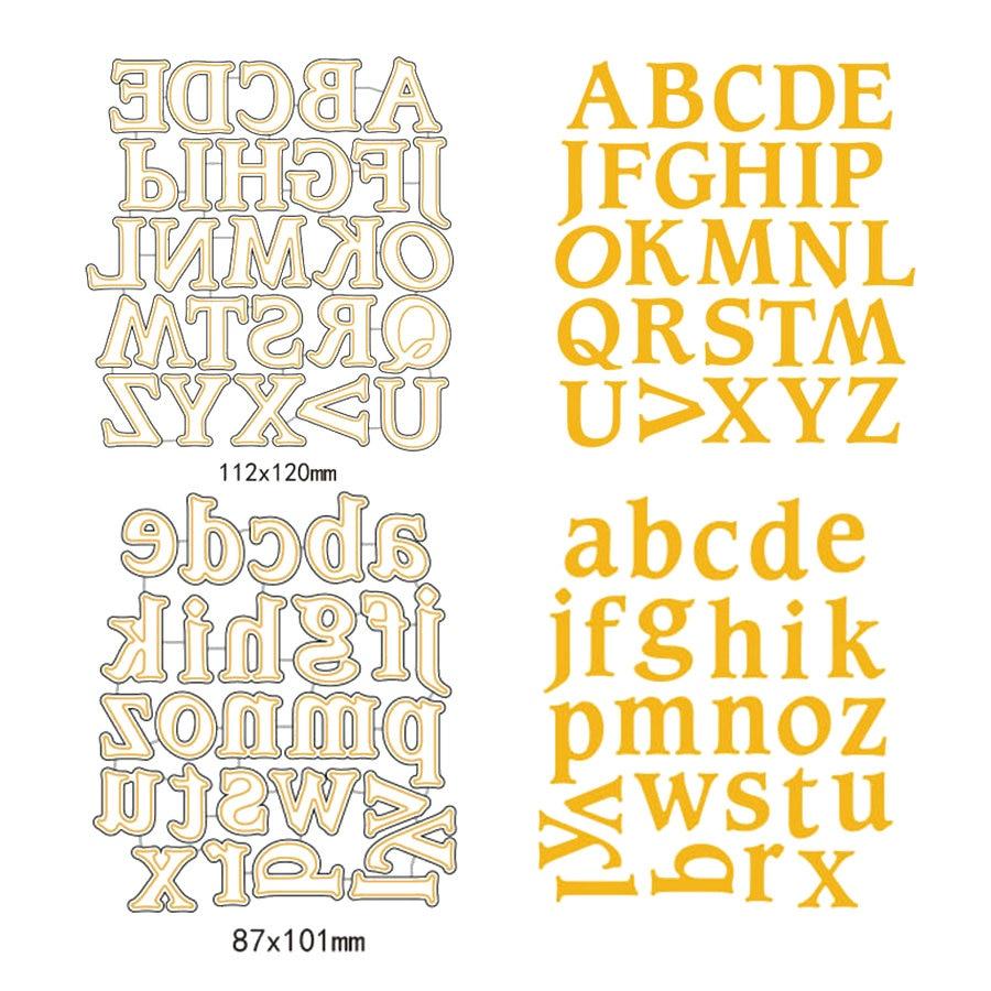 A-Z Majuscule Alphabet Métal Coupe Dies Minuscule Lettre Scrapbooking Coupe  Dies Bricolage Décor Nouvel An Pochoir Artisanat Carte Modèle pour Alphabet Majuscule Et Minuscule