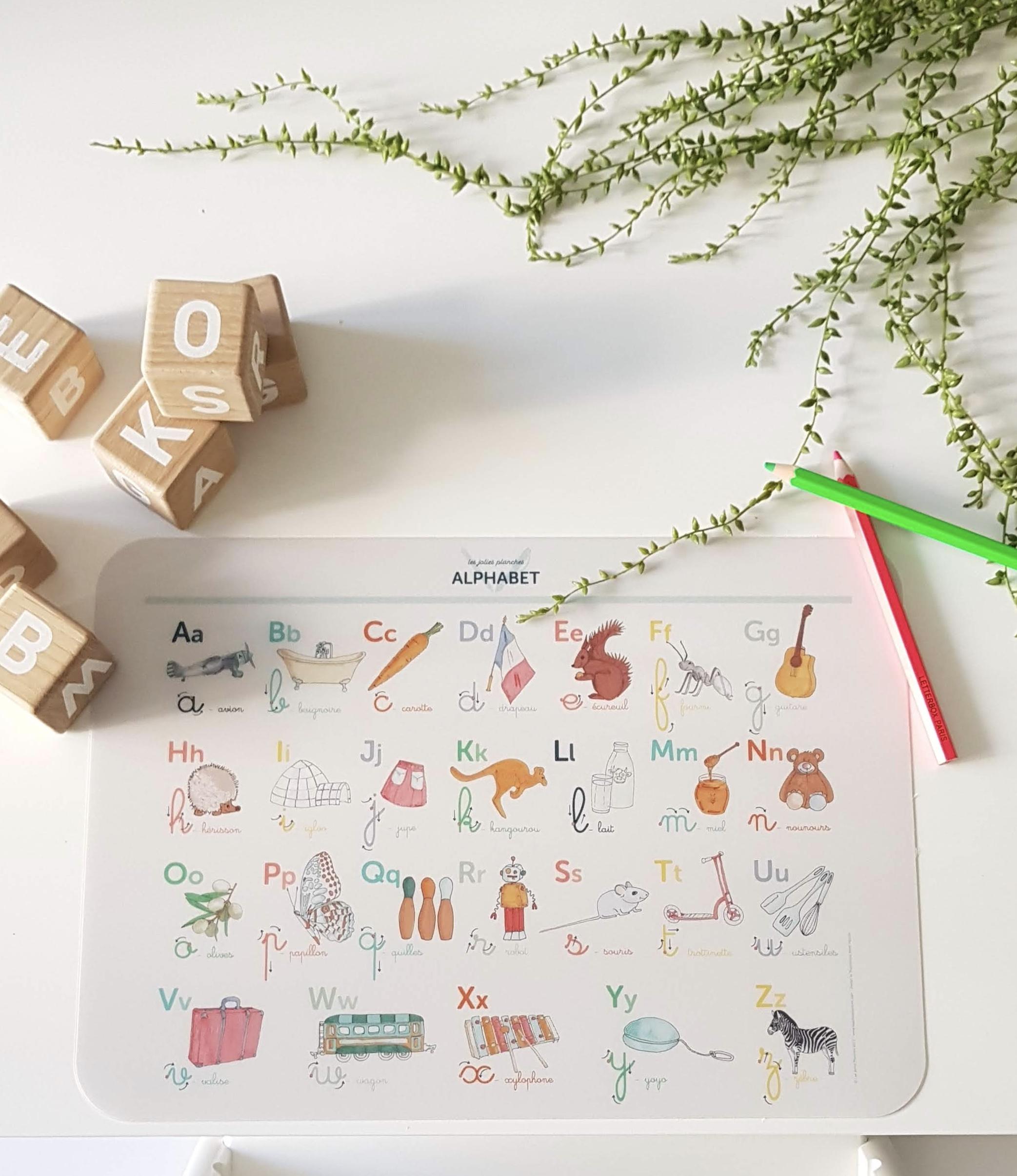Abécédaire Set De Table & Set De Bureau avec Apprendre À Écrire L Alphabet