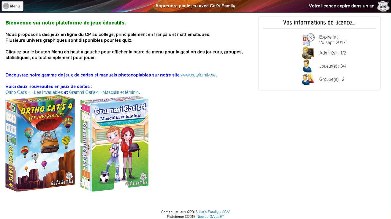 Abonnement Etablissement 1 An À La Plateforme De Jeux destiné Jeux Educatif En Ligne Gratuit