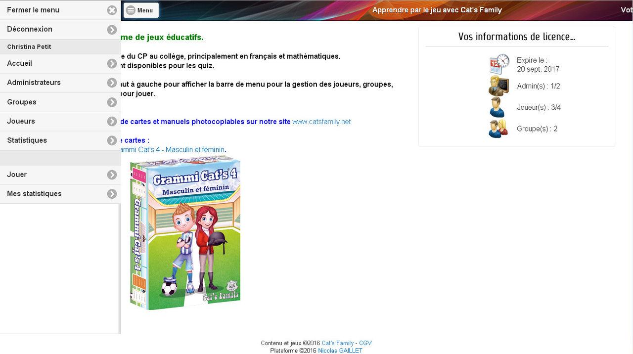 Abonnement Etablissement 1 An À La Plateforme De Jeux tout Jeux Éducatifs En Ligne Cp
