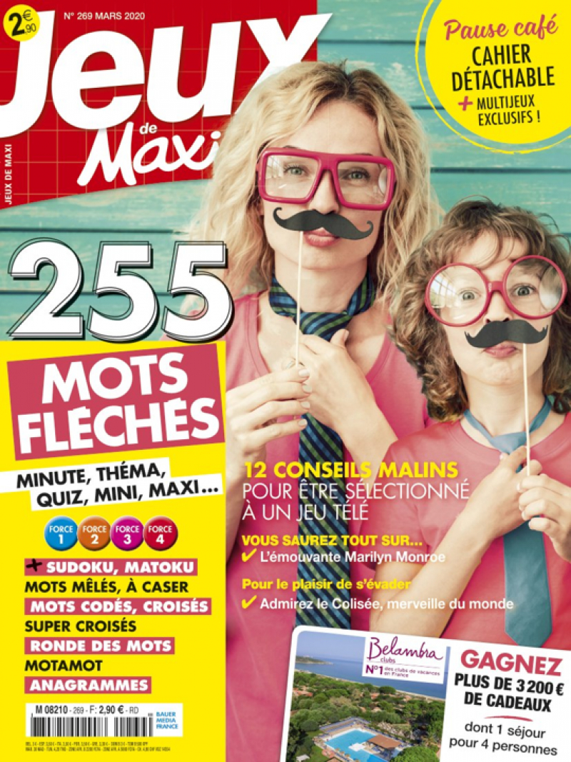 Abonnement Magazine Les Jeux De Maxi | Abobauer serapportantà Pas Simple Du Tout Mots Fleches