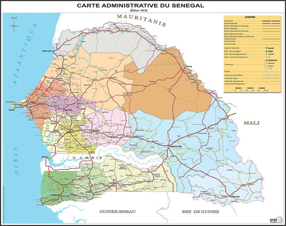 About Senegal | Senegal Licensing Round 2020 dedans Carte Region Departement