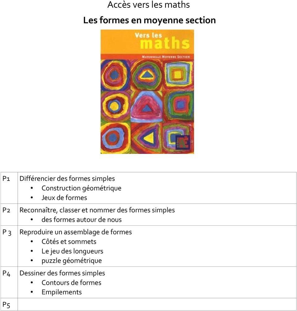 Accès Vers Les Maths Les Formes En Moyenne Section - Pdf encequiconcerne Tangram Moyenne Section