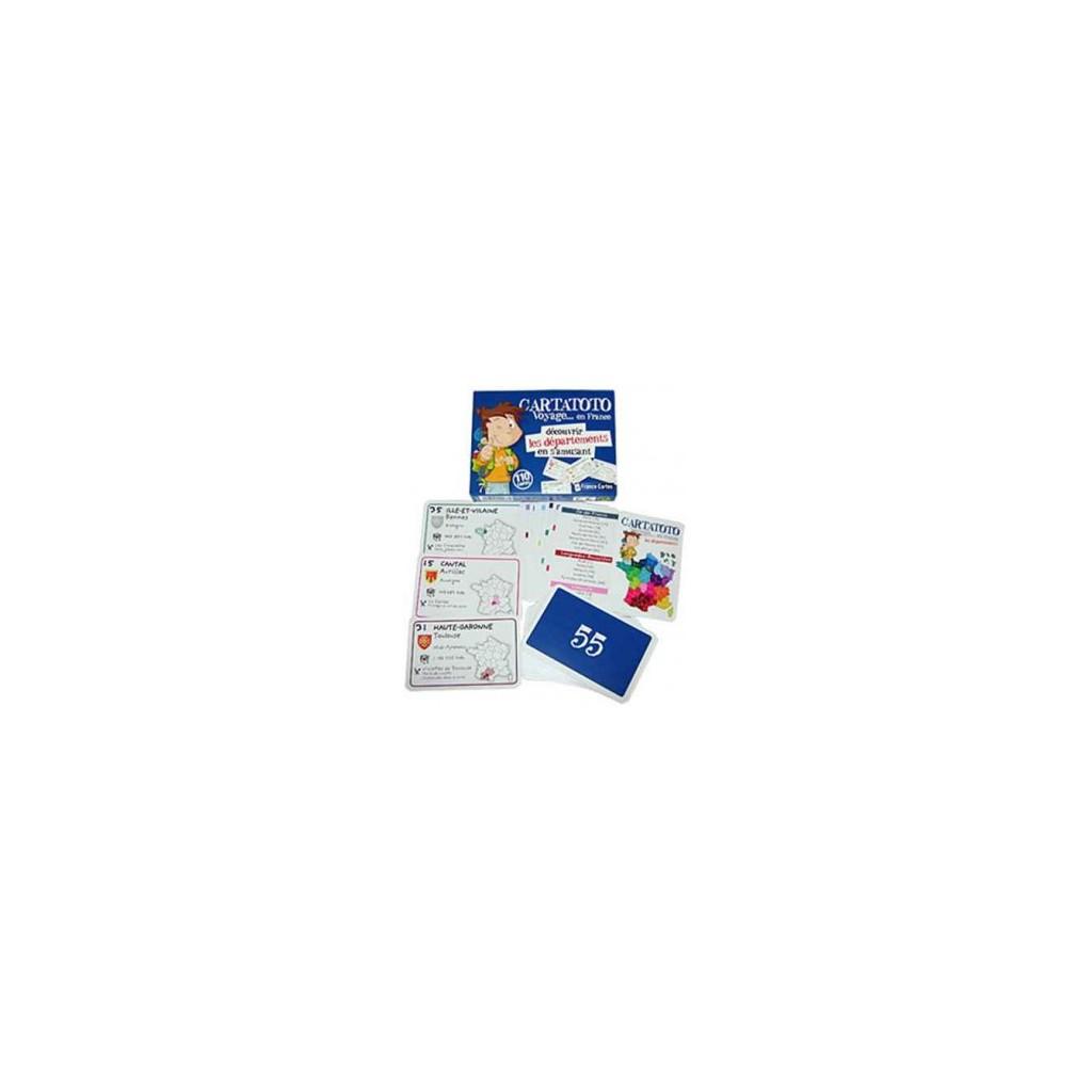 Acheter Carto - Découvrir Les Départements En S'amusant - Jeu De  Société - France Cartes intérieur Apprendre Les Départements En S Amusant