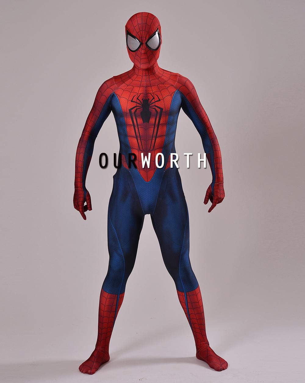 Acheter Costume Spider Man 3D Imprimer Spiderman Cosplay Costume Z  Costume Spandex Homme Costume Super Héros Comique Fait Sur Mesure De $69.82  Du avec Tete Spiderman A Imprimer
