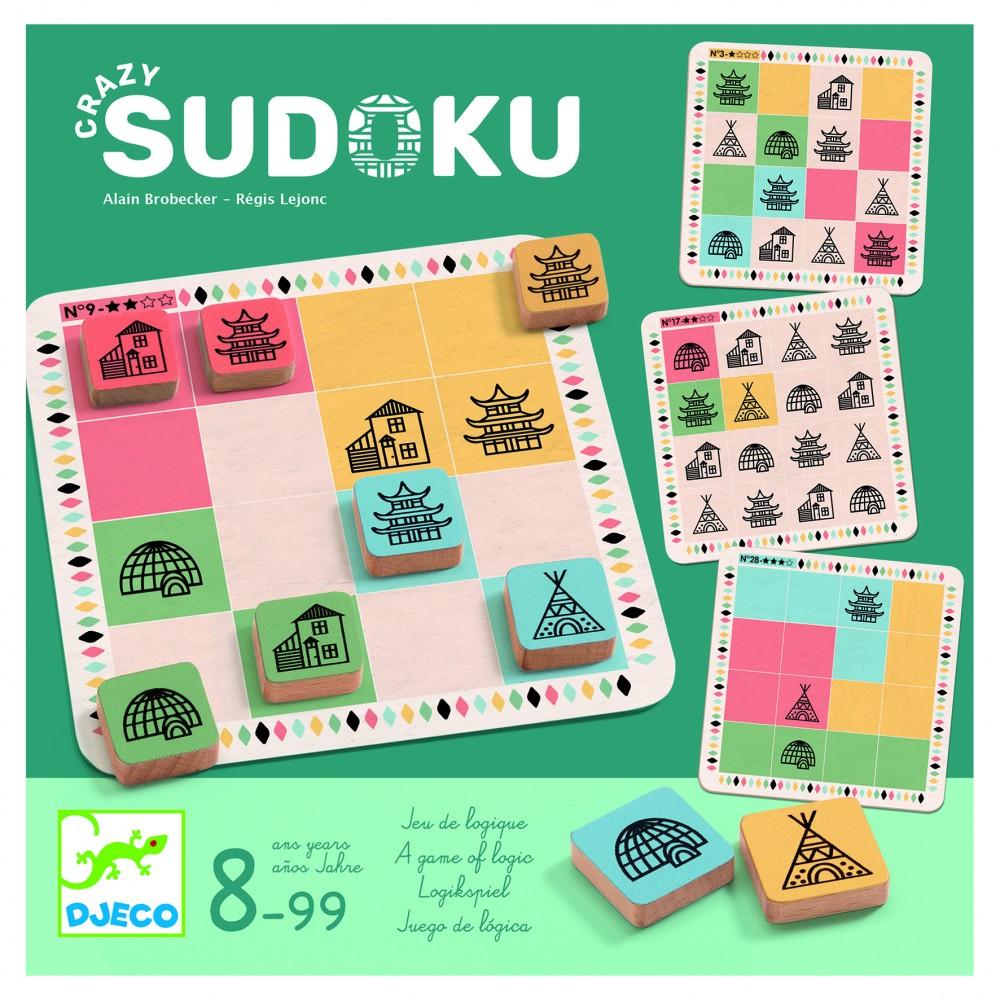 Acheter Crazy Sudoku - Jeux De Société - Djeco destiné Sudoku Lettres À Imprimer