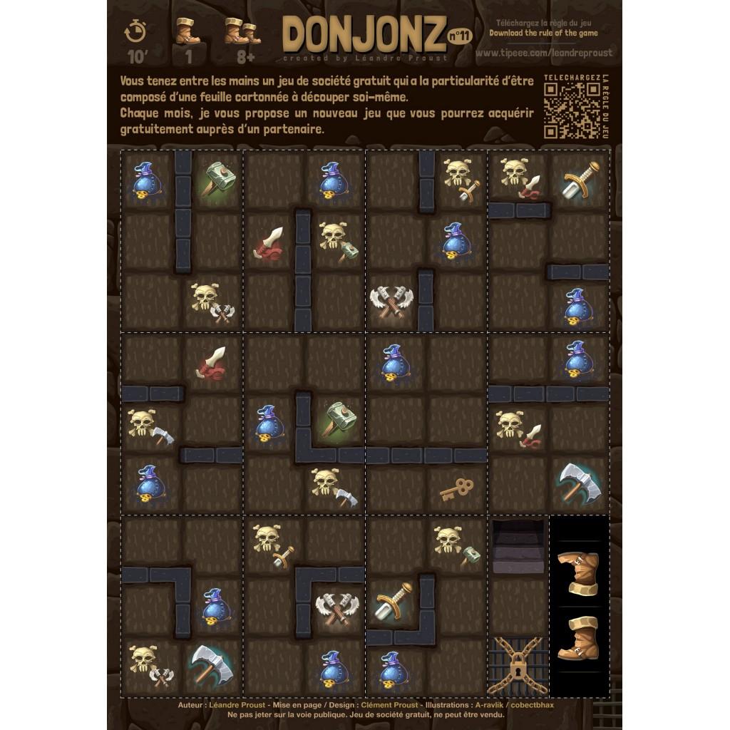 Acheter Donjonz - Jeux De Société - Cut And Play pour Jeux Flash Enfant