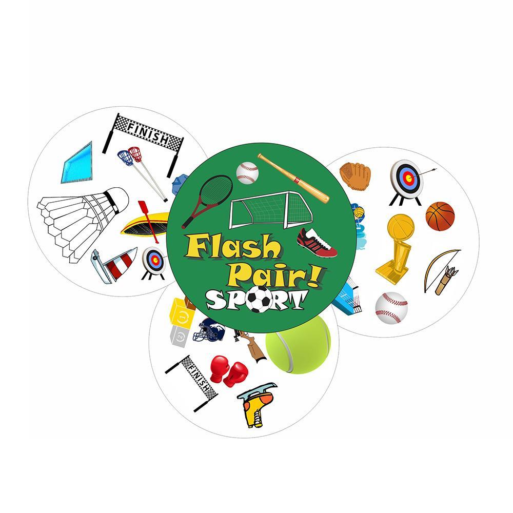 Acheter Jeu De Cartes De Sport Flash Pair Pour Enfants, Jeux De Société  Pour Amateurs De Sport, Jeux Éducatifs Pour Le Basketball Jeux Familiaux De à Jeux Flash Enfant