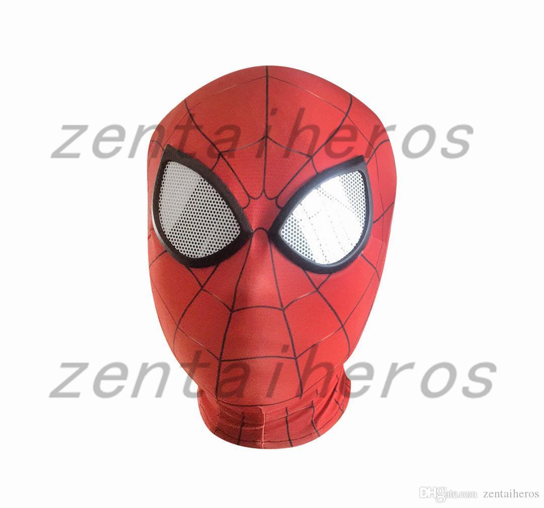 Acheter Masque De Fer Spiderman Costume Cosplay Imprimer 3D Masque Lycra  Spandex Rouge / Rouge Tailles Adultes Articles De Fête De $12.19 Du avec Masque Spiderman A Imprimer