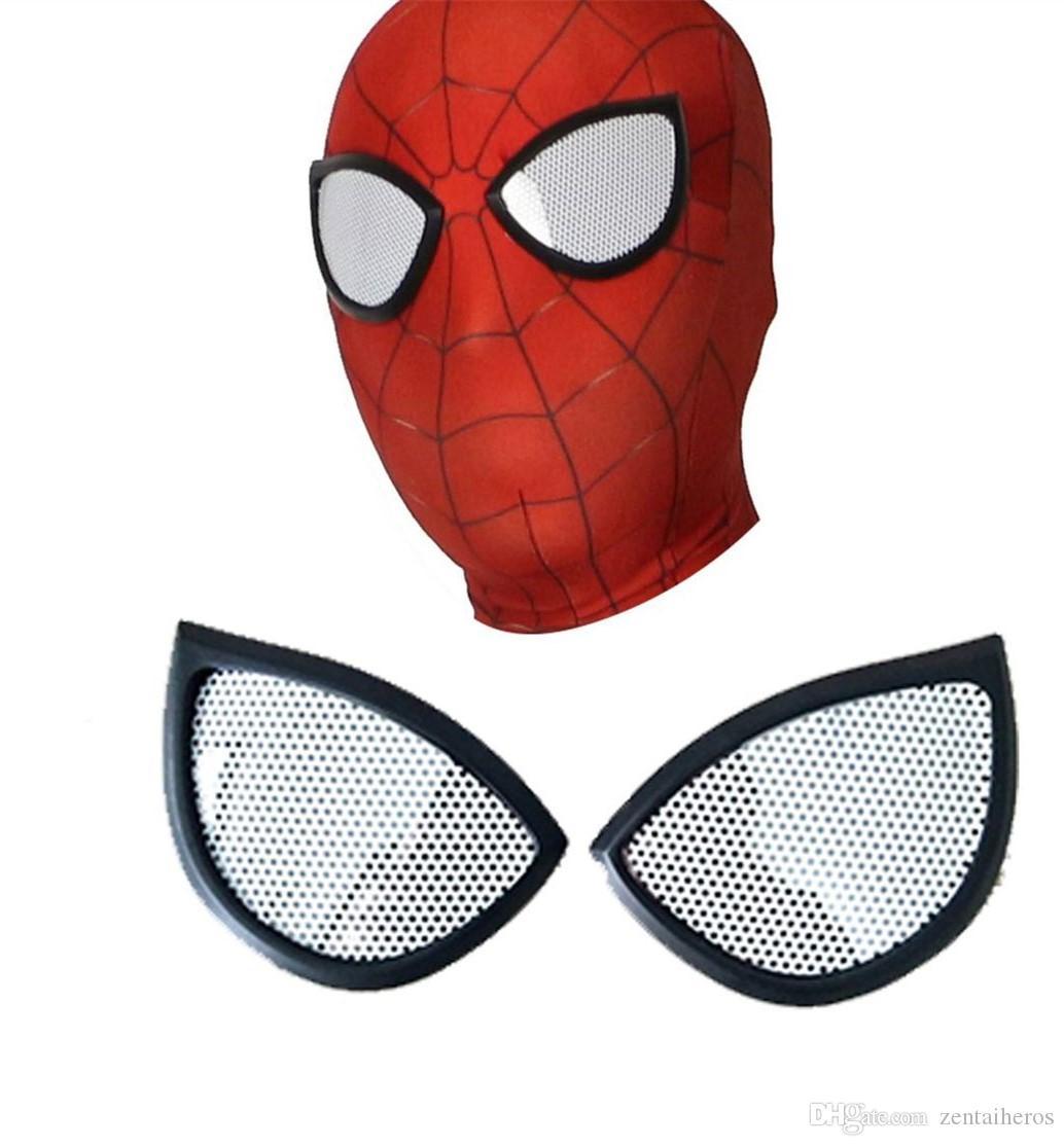 Acheter Masque De Fer Spiderman Costume Cosplay Imprimer 3D Masque Lycra  Spandex Rouge / Rouge Tailles Adultes Articles De Fête De $12.19 Du serapportantà Masque Spiderman A Imprimer