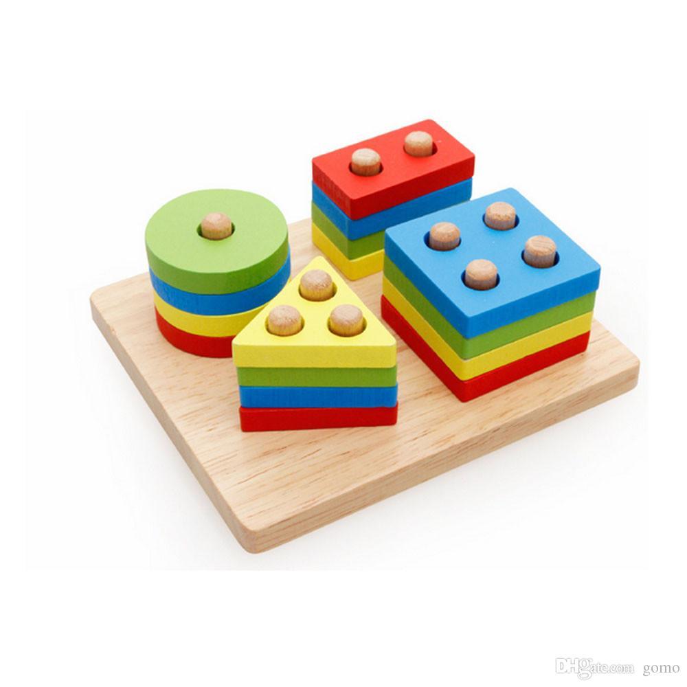 Acheter Petite Enfance Jouets Éducatifs Pôle En Bois Forme Géométrie  Intellige Outils D'apprentissage Jouets Jeux De $5.92 Du Gomo | Dhgate intérieur Jeu De Forme Géométrique