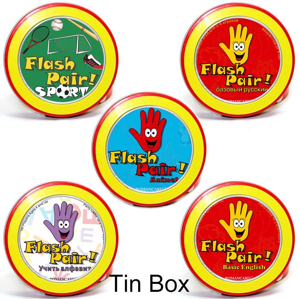 Acheter Romancard Flash Spot Style 5 Règles Anglaises À L'intérieur  Convient Aux Enfants Famille Jouets Éducatifs Jeu De Cartes Jeux De Société  De à Jeux Flash Enfant