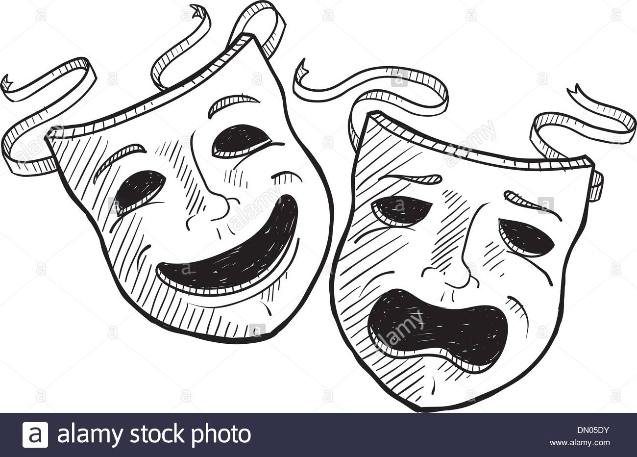 Acting Rehearsal Stock Vector Images - Alamy concernant Dessin Theatre