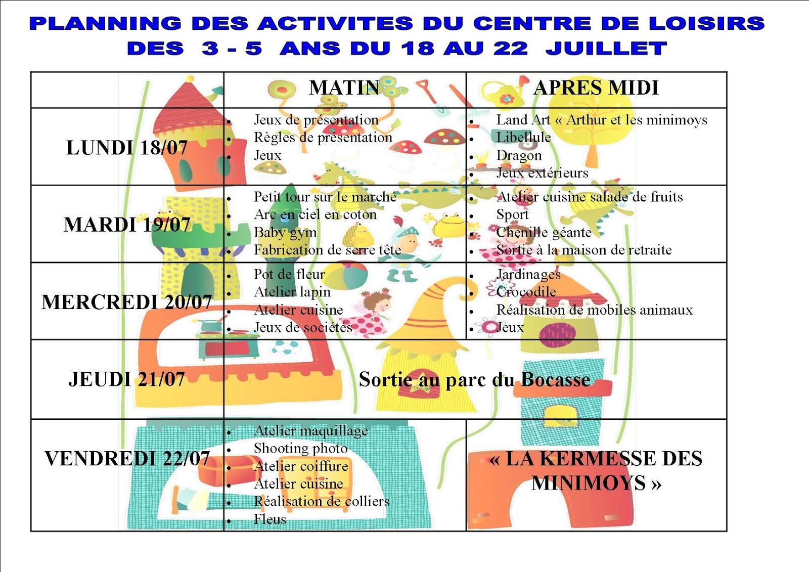 Activité 3 5 Ans Centre De Loisir intérieur Jeux Pour 3 5 Ans