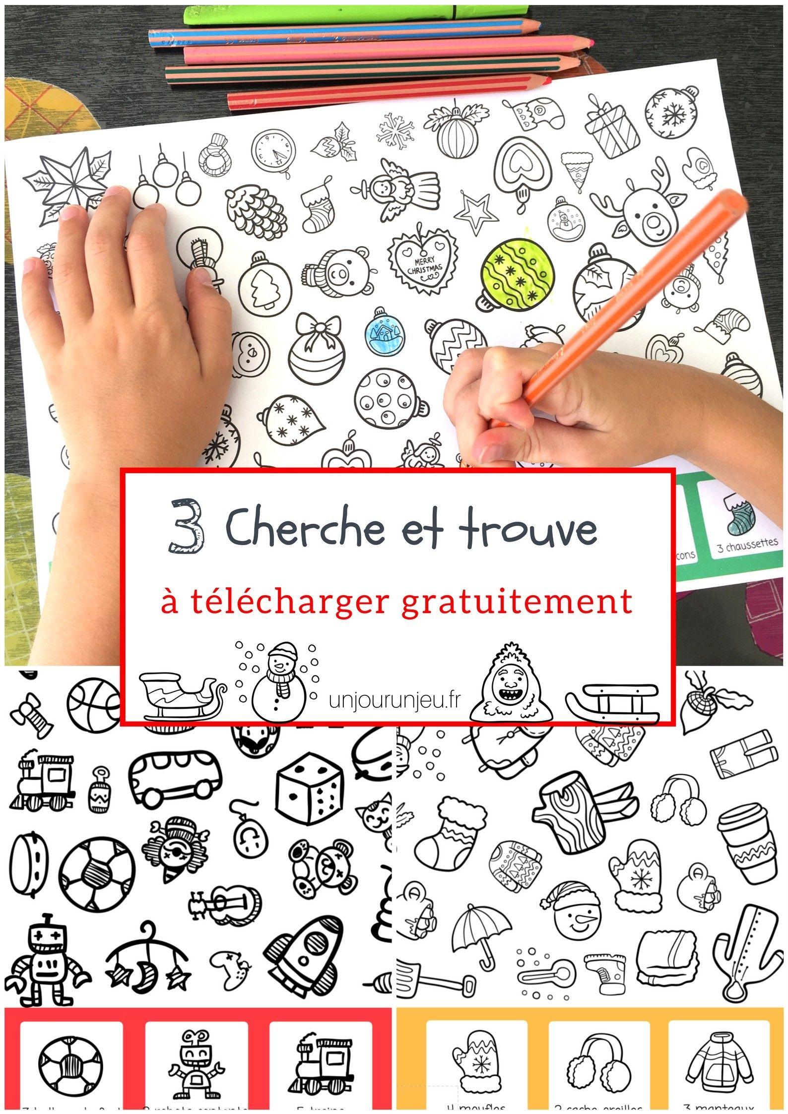 Activité À Imprimer Gratuitement : 3 Cherche Et Trouve De avec Jeux De Maternelle À Imprimer