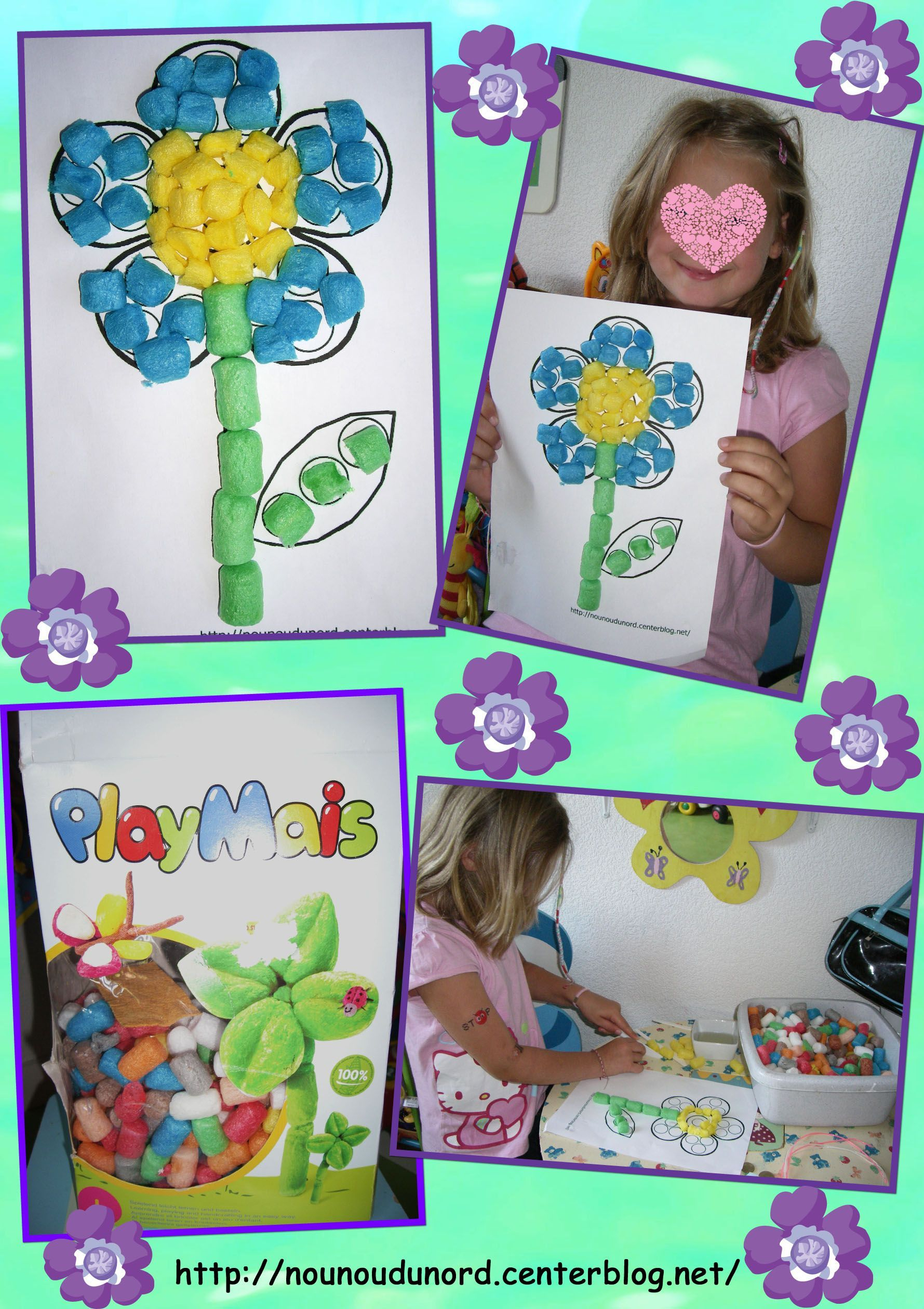 Activite Avec Flocon De Mais pour Activité Manuelle Enfant 4 Ans