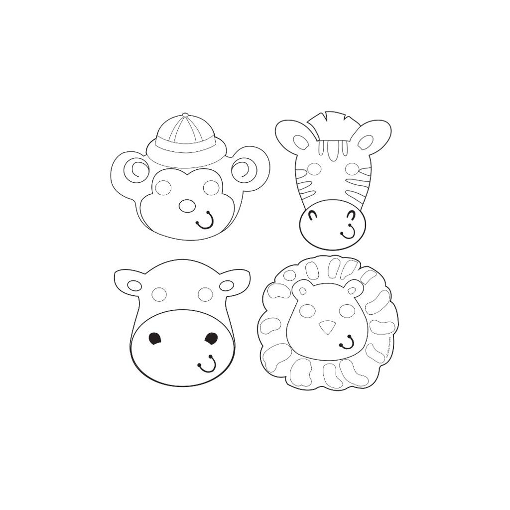 Activité Coloriage Masques Animaux De La Jungle destiné Masques Animaux À Imprimer