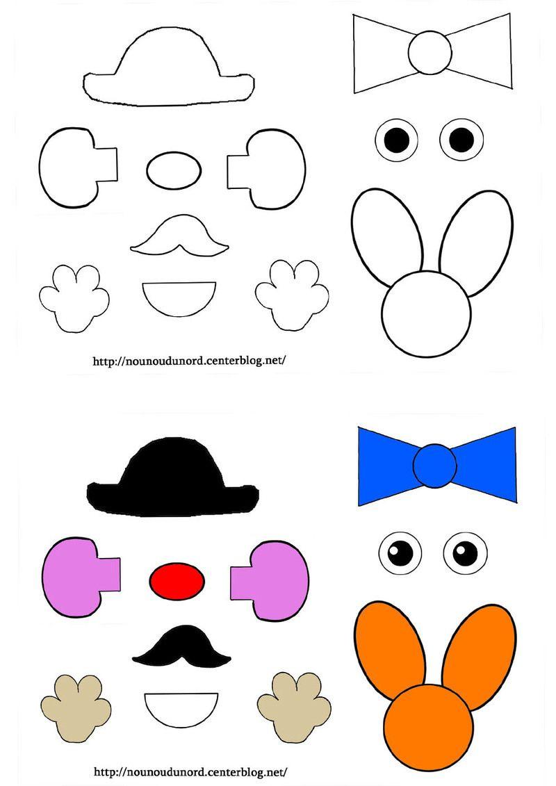 Activite Gabarit De Mr Patate | Activité, Coloriage Magique avec Mr Patate Coloriage