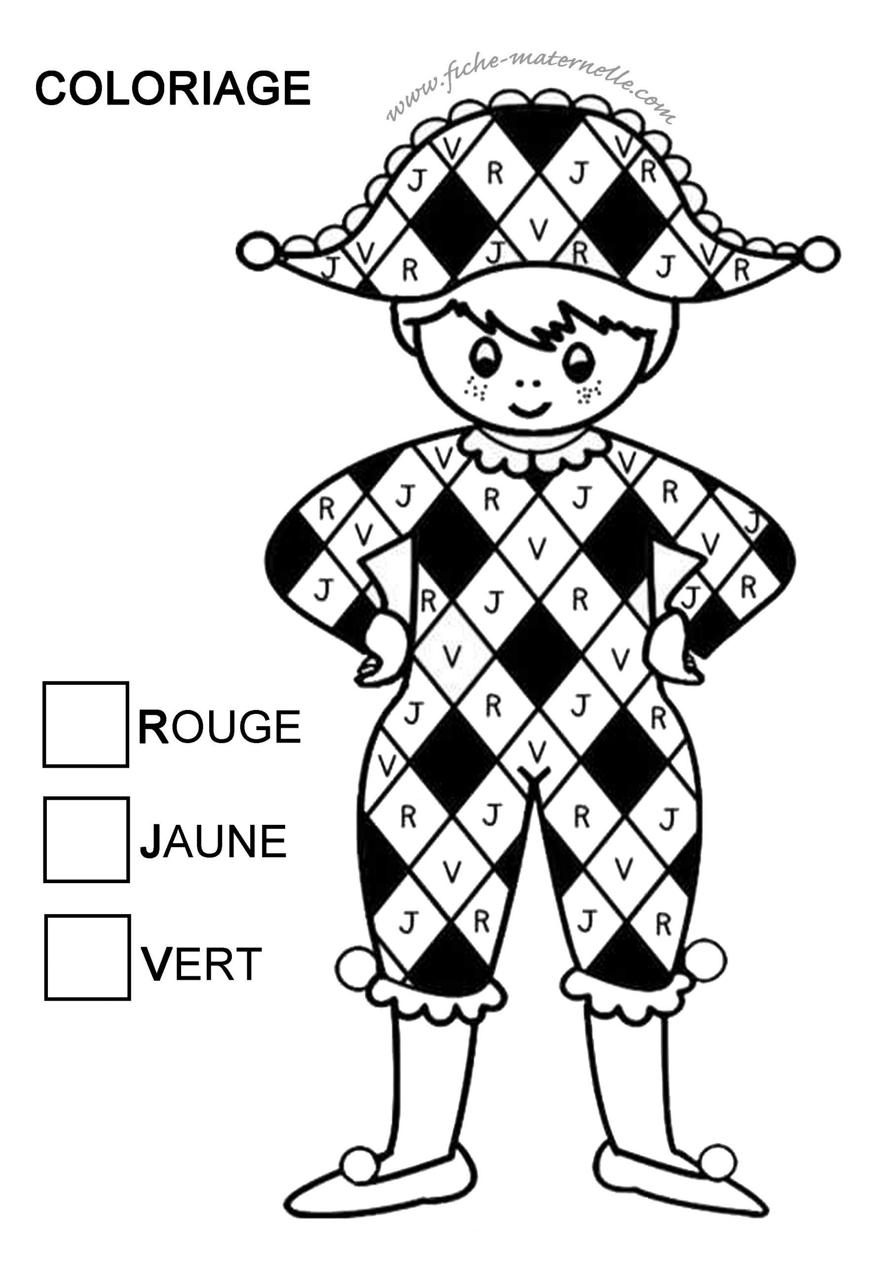 Activité Graphique En Classe destiné Arlequin A Colorier