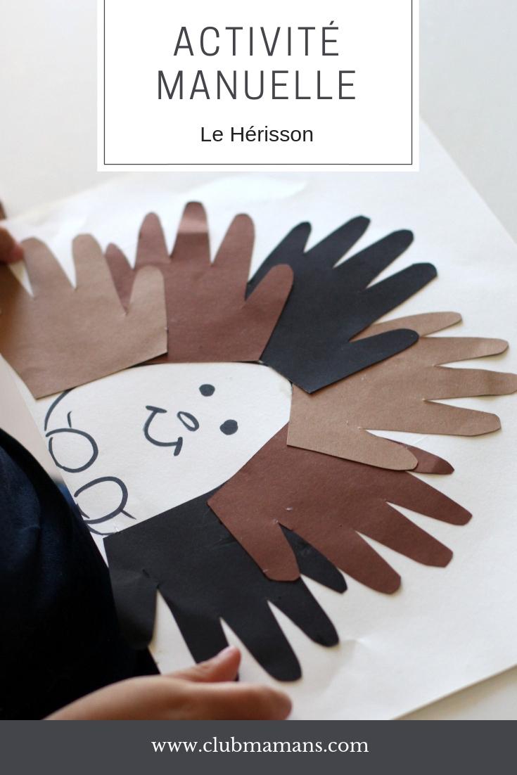 Activité Manuelle Avec Enfant : Le Hérisson ⋆ Club Mamans avec Activité Manuel Pour Enfant