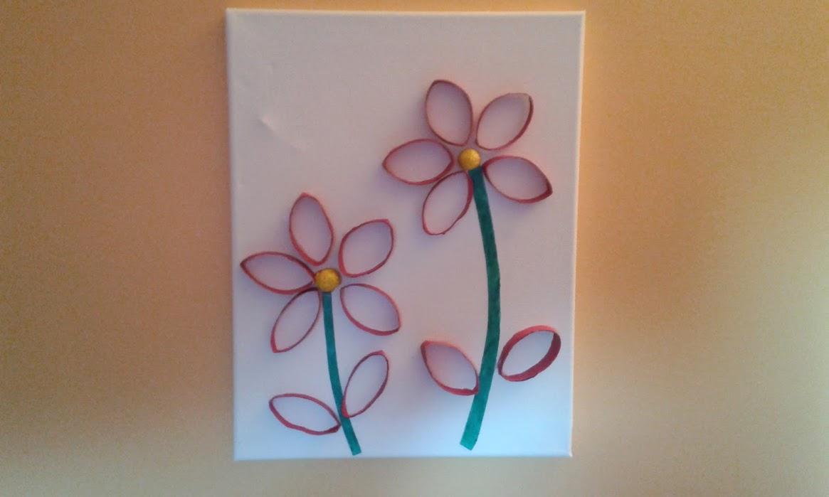 Activité Pour Les Enfants] Tableau Fleurs Avec Des Rouleaux encequiconcerne Activité Manuelle En Papier