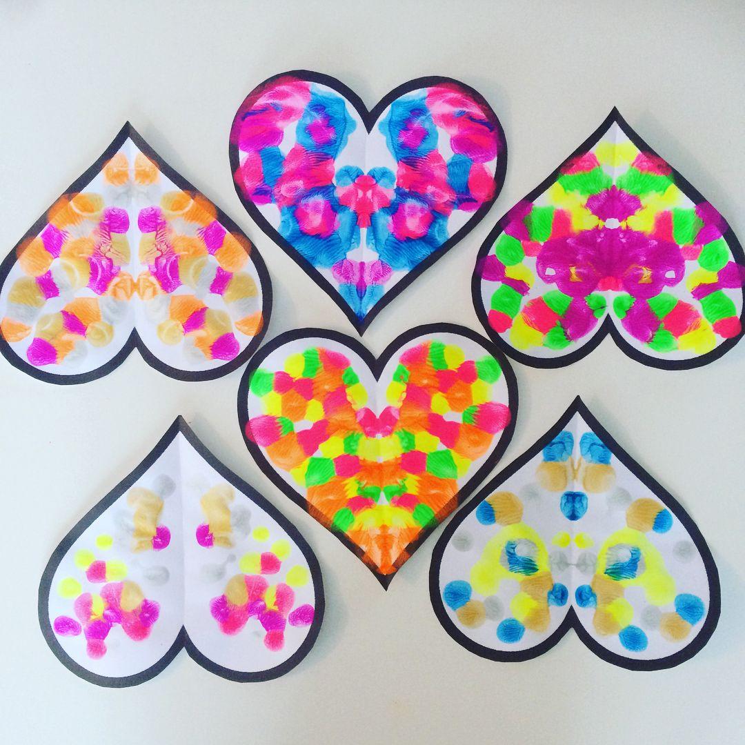 Activités Enfants - Saint Valentin - Cœurs Symétrique concernant Arts Visuels Symétrie