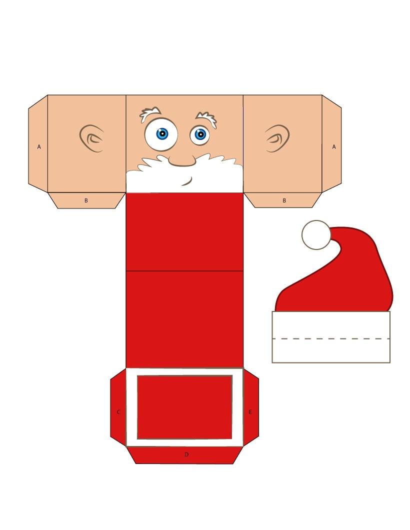Activités Manuelles Boîte En Forme De Tête De Père Noël - Fr pour Boite De Noel A Imprimer
