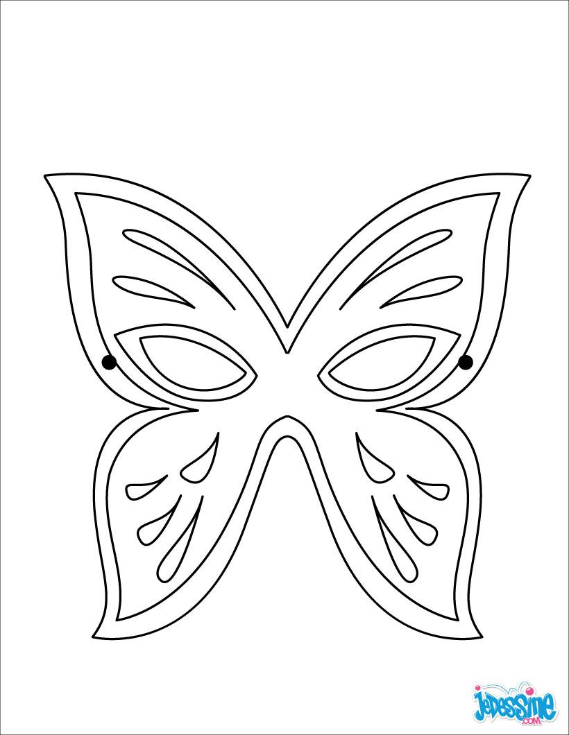 Activités Manuelles Masque Papillon - Fr.hellokids à Masque Papillon À Imprimer