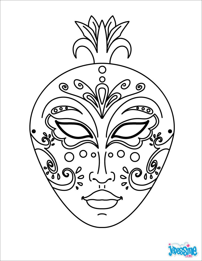 Activités Manuelles Masques A Decouper - Fr.hellokids destiné Coloriage De Carnaval A Imprimer Gratuit