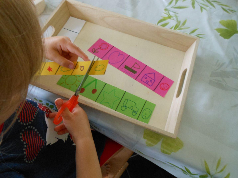 Activités Montessori : Apprendre À Découper Avec Des Ciseaux pour Activité Montessori 3 Ans