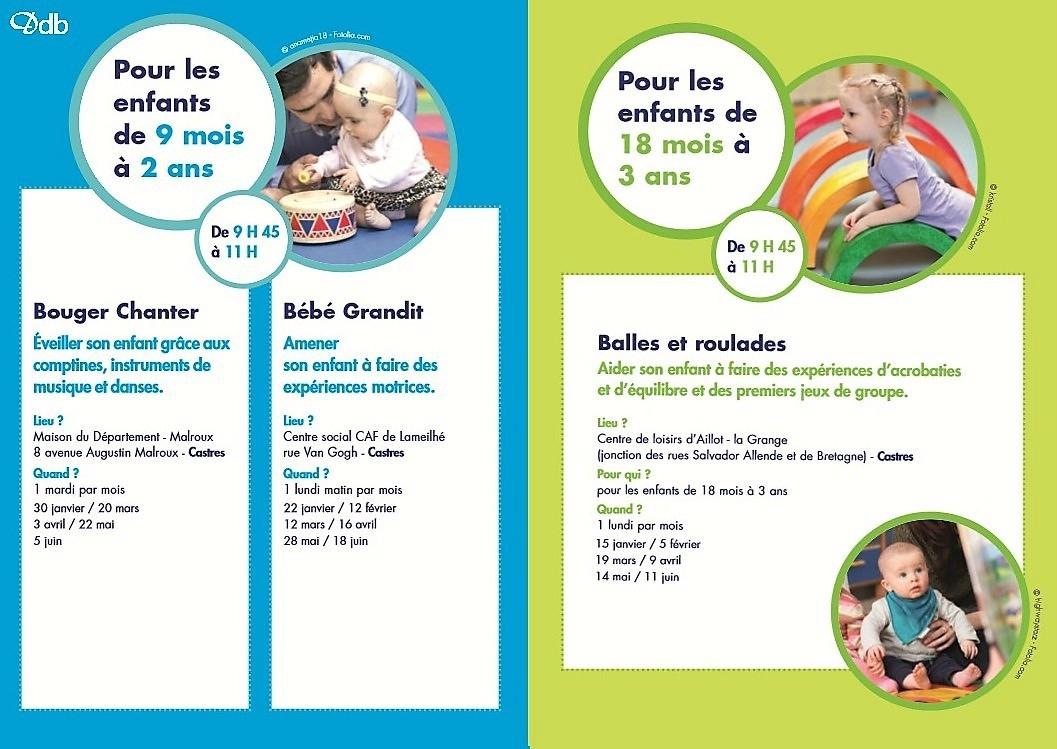 Activités Parents-Enfants 2018 À Castres - Dose De Bonheur intérieur Activité 2 3 Ans