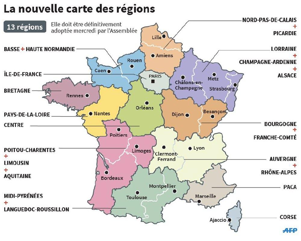 Actualité | Le Conseil Constitutionnel Valide La Nouvelle dedans Les 13 Régions