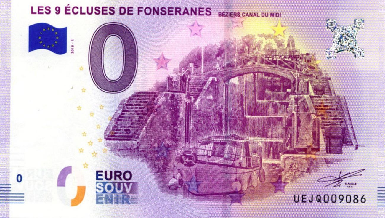 Actualités : Beziers - Un Billet-Souvenir Des 9 Écluses pour Pieces Et Billets Euros À Imprimer