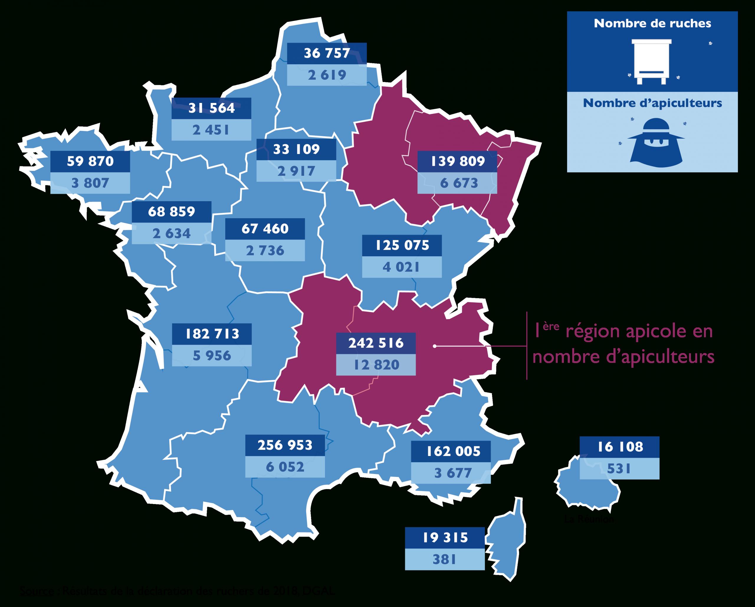 Ada France - Fédération Nationale - Apiculture encequiconcerne Nombre De Régions En France 2017