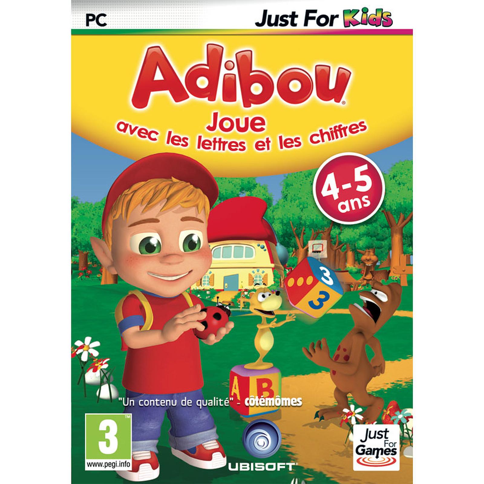 Adibou 4/5 Ans Joue Avec Les Chiffres Et Les Lettres (Pc encequiconcerne Jeu Pc Adibou
